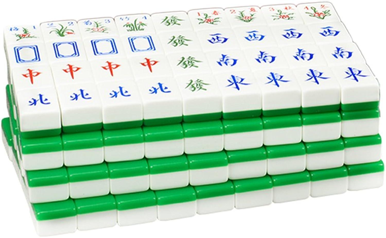 LI JING JING JING SHOP green Acrylic Mahjong card, Home Hand