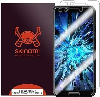 Skinomi TechSkin [2-Pack] (Case Compatible) Clear Screen Protector for Google Pixel 3 Anti-Bubble HD TPU Film