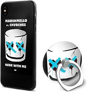 Marshmello Here With Me CHVRCHES ファッション防塵iPhone Xケース5.8インチ360度回転携帯電話マウントホルダー指輪