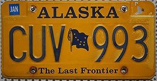 ALASKA Nummernschild USA   Kennzeichen US License Plate   Original geprägtes Blechschild