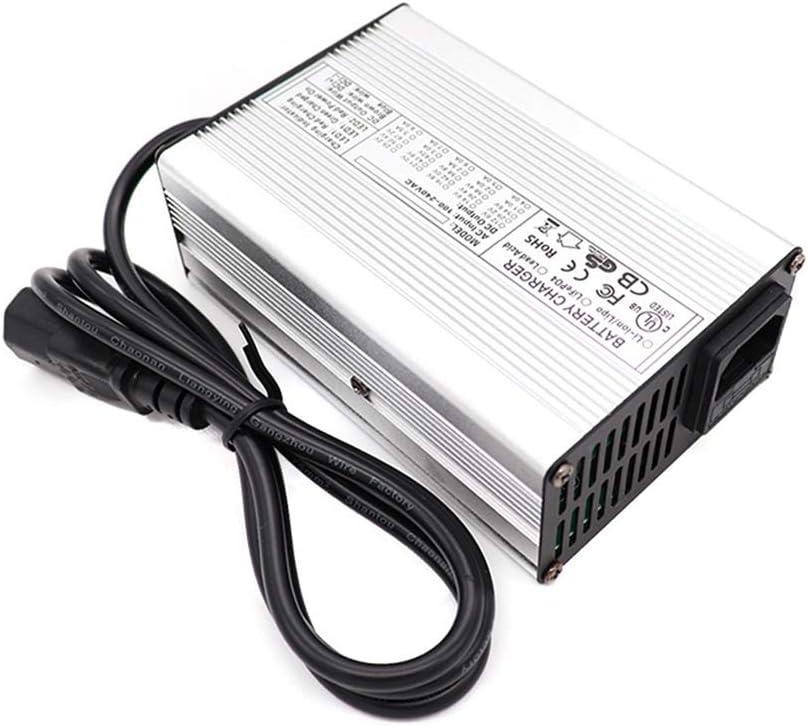 SUIBIAN Cargador de Scooter eléctrico, 58.8V 3A Voltaje Amplio de Litio Cargador de batería, Control Inteligente de Temperatura de Apagado de protección, Conector Opcional