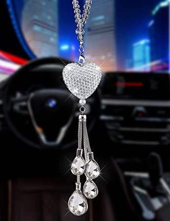 Colorful Crystal Car Pendant. Lucky Crystal Pendant Car Rearview Mirror Pendant,Car Decorations Interior Fashion Car Hanging Ornament Interior