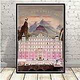 Película clásica The Grand Budapest Hotel lienzo pintura arte decoración dormitorio hogar decoración de pared póster 40x60 cm sin marco