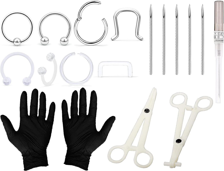 Tvalccoy Piercing Kit 2021 model Needles Septum Pierc San Diego Mall