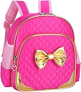 Cute Durable Toddler Backpack for Preschool Kindergarten Little Girl Kids (Cute Backpack for Toddler(2-5 year) Girls, Gold-Rose)