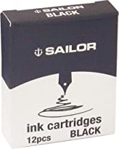 Sailor- Cartouche d'encre Noir pour stylos plume Sailor