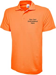 Custom Embroidered Polo Shirt Uneek Personalised with Your Text Classic Polo Top