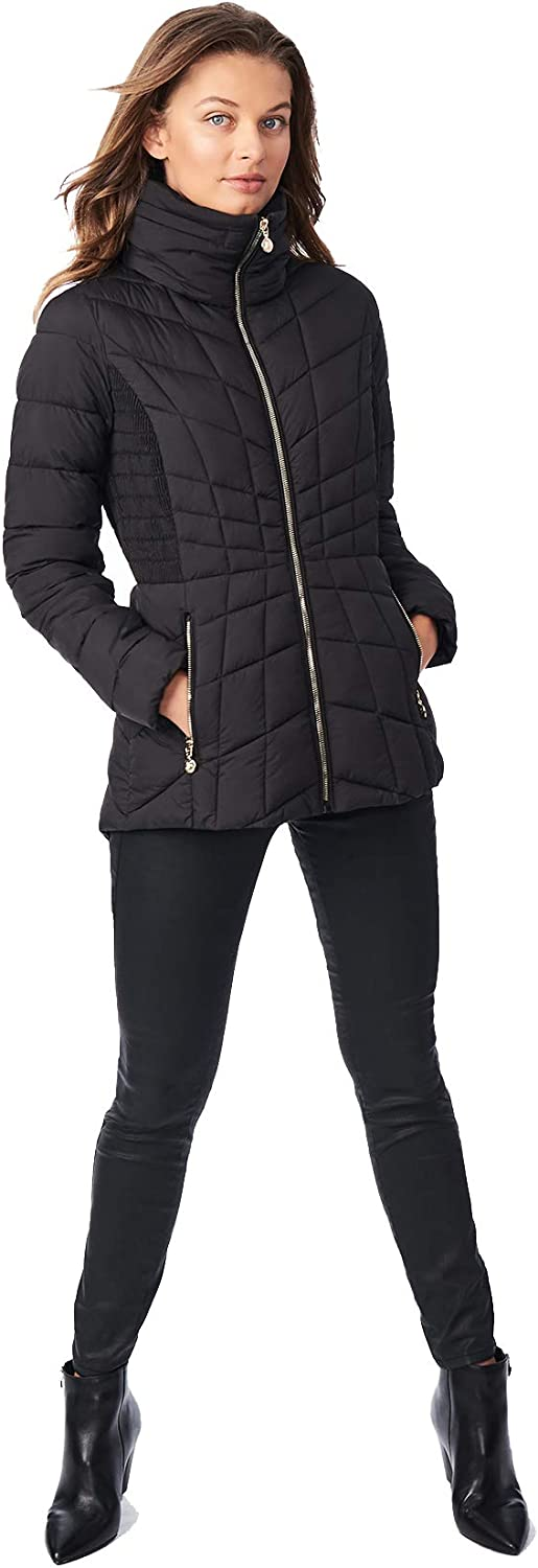 Bernardo - Packable Puffer Jacket with OFFicial Hidden Ho Fort Worth Mall Sides and Cinch