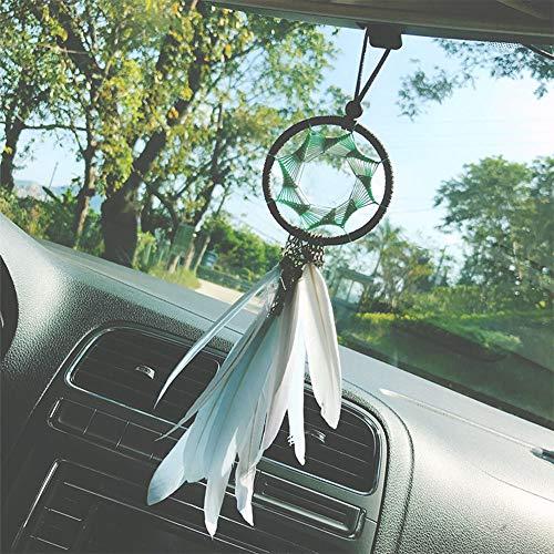 YGMONER Dream Catcher Handmade Car Interior Rearview Pendant Charm Car Hanging Decoration 2.8 Diamete