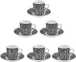 Jogo de xicaras para café maia com 12 peças em porcelana…