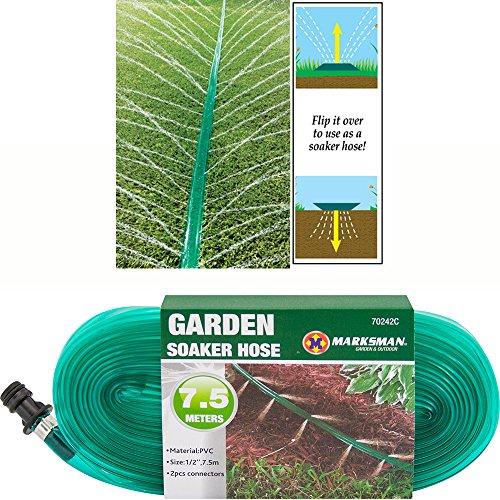 BARGAINS-GALORE - Tubo flessibile da 7,5 m, per irrigazione a goccia e irrigazione, per prati