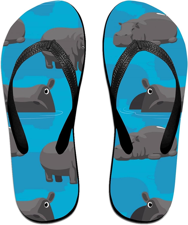 Women's Men's Flip Flop New item Slippers Recommendation Cartoon Cute Hippopotamus Adu
