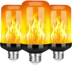 Flame Bulb, E27/E14 LED Flame Flickering Effect Fire Light Bulbs with 4 Modes 5W Flame Bulb Simulated Decorative Atmospher...