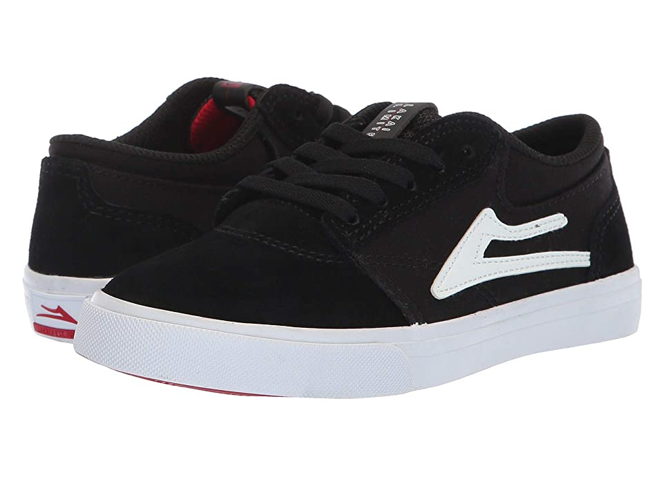Lakai Griffin (Little Kid/Big Kid) (Black/White Suede 1) Men