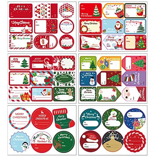 Etiquetas Navidad para Nombre Marca GLAITC