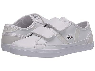 Lacoste Kids Sideline 120 2 CUC (Little Kid) (White/Off-White) Kid