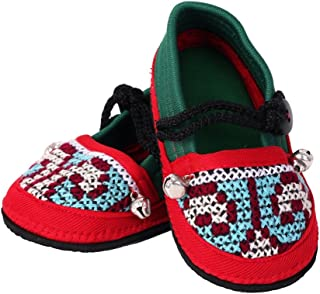 ARTIIDCO Children Soft Sole Embroidered Multicolored Ethnic Thai Cloth Shoes