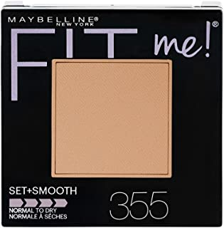 Maybelline New York Fit Me Set + Smooth Powder Makeup, Coconut, 0.3 oz.