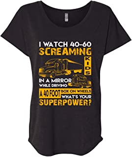 I Watch 40-60 Screaming Kids in A Mirror While Driving T Shirt, Become A Truck Driver T Shirt