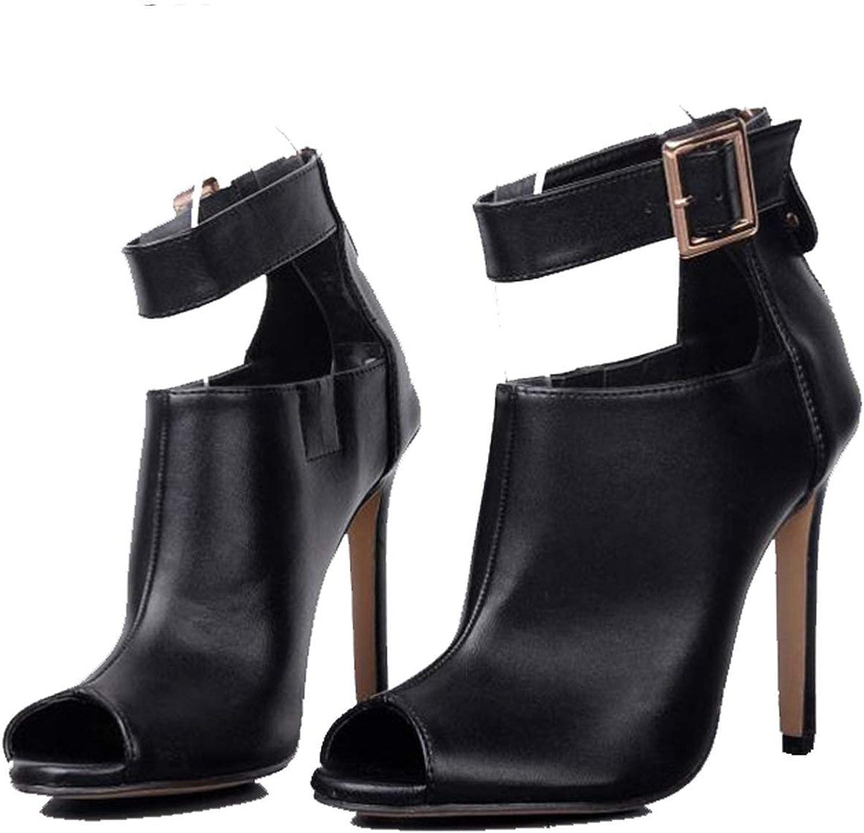 MiniYoo Gladiator Women Pumps Ladies Sexy Buckle Strap Roman High Heels Open Toe Sandals Party Wedding shoes