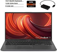 $569 » ASUS VivoBook 15.6 Inch FHD Laptop, AMD Ryzen 3 3200U up to 3.5GHz, 12GB DDR4 RAM, 512GB SSD, AMD Radeon Vega 3, Backlit Keyboard, Bluetooth, HDMI, Windows 10 + Ptech 4 Port USB 2.0 Hub Bundle