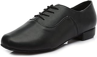 SWDZM Uomo Ragazzo / uomini standard da ballo latino scarpe da ballo Leater