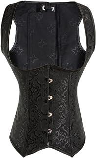 Alivila.Y Fashion Corset Women's Steel Boned Brocade Underbust Corset 2989-Black-L