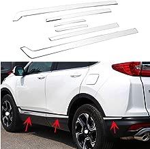 MotorFansClunb 6PCS Body Side Door Molding Cover for Honda CRV 2017-2019 Stainless Steel Protector Cover Trim