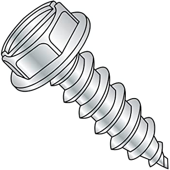 Hex Washer Head Slotted Drive 3-1//2 Length #12-14 Thread Size Zinc Plated Steel Sheet Metal Screw Pack of 25 Type AB