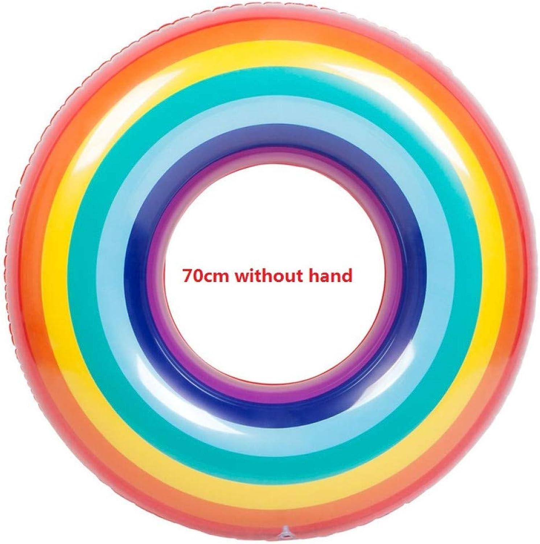 minorista de fitness YRQSWA 6 6 6 Estilos Arco Iris Piscina Inflable Flotador Anillo de Natación con Mano Círculo de Natación para Niños y Adultos Anillo Flotante Ruedas de Natación  liquidación hasta el 70%