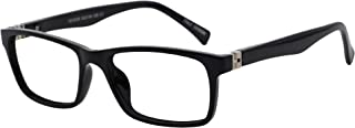 OCCI CHIARI Reading Glasses Spring Hinge Reader for Men 1.0 1.25 1.5 1.75 2.0 2.25 2.5 2.75 3.0 3.5(Black,200)