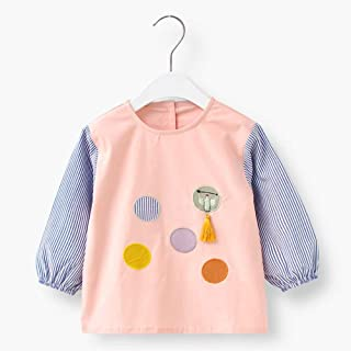 0-4 Years Old Baby Waterproof Long-sleeved Bib Children Cotton Long-sleeved Anti-dressing Clothing Bib For Infant Toddler...