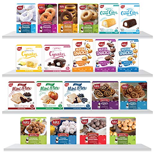 Katz Gluten Free Top 20 Best Sellers Variety Pack | Gluten Free Donuts, Donut Holes, Mini Pies, Crème Cakes, Muffin Snacks, Cupcakes | Dairy Free, Nut Free, Soy Free, Gluten Free (20 Packs Total) (Best Banana Cream Pie Recipe Paula Deen)