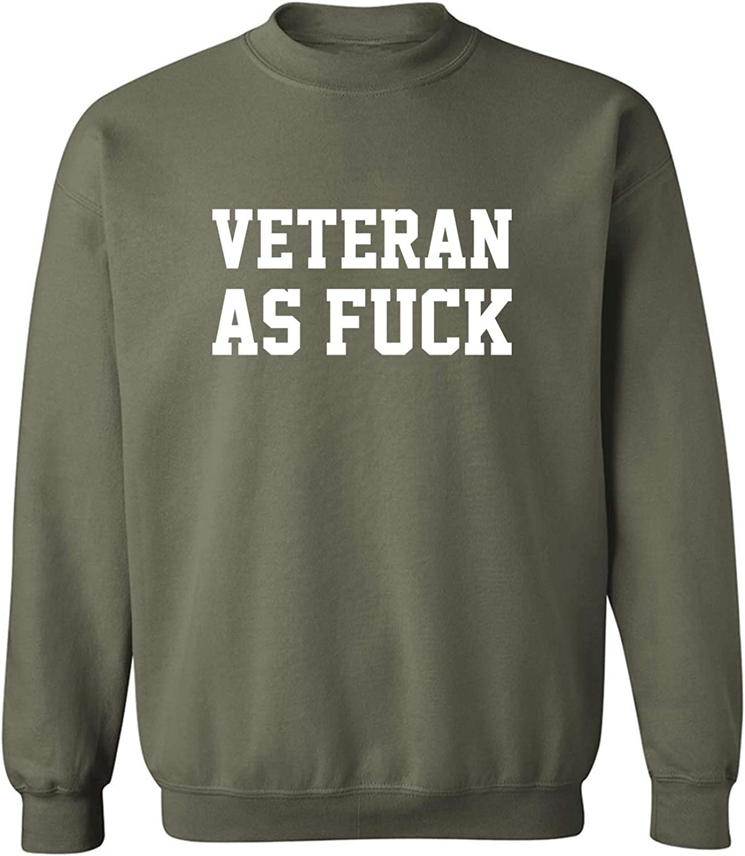 Veteran As Fuck Crewneck Sweatshirt