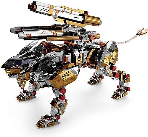 MMR Puzzle en métal, décoration de la Maison 3D DIY Assembler batiHommest modèle Adulte, découpé au Laser Kits de Jouets de Jouets Robot Lion 10  25  13.5 cm