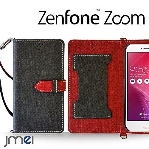 Zenfone Zoom ZX551ML カバー JMEIオリジナルカルネケース VESTA ブラック ASUS simフリー ゼンフォン ズー...