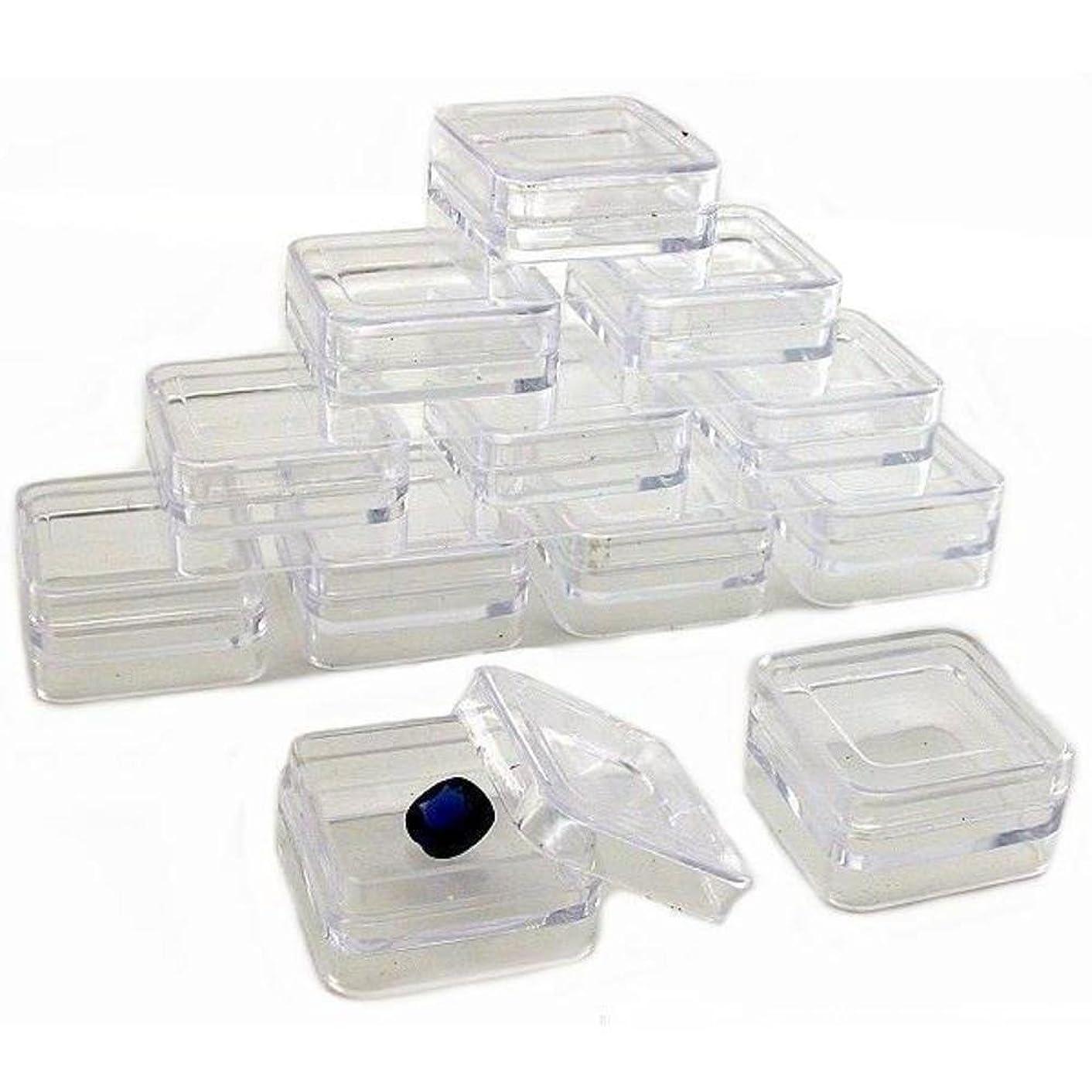 12 Square Bead Eyelets Storage Jars Stackable Organizer