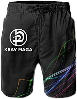 Krav Maga Logo Mens Board Shorts Troncos de natación Ropa de Playa Casual Clásico Fit Trunks