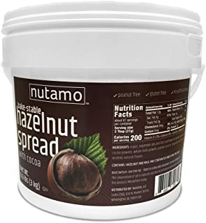 Nutamo Hazelnut Spread with Cocoa for Baking, All Natural Non-GMO No Peanut Gluten Free Topping, 6.6 Lb Tub Bulk