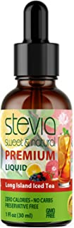 Long Island Iced Tea Premium Quality Stevia Drops | Organic Liquid Stevia | Best Sugar Substitute |100% Pur...