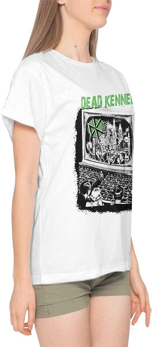 BobbyElliott Dead Kennedys Womens Cotton Graphic Print Short Sleeve Crewneck T-Shirt Casual Basic Tees