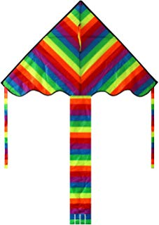 HENGDA KITE Rainbow Delta Kite, 60-inch - Kites for Kids - Best Easy Flyer,Easy to Assemble, Launch and Fly