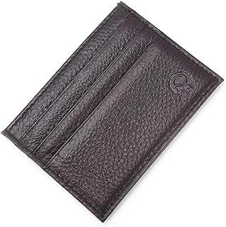 Super Slim Soft Leather Pocket Wallet Credit Card Holder Purse for Men&Women RS Coffee
