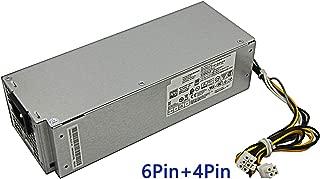 Asia Nueva fuente de alimentación de 240 W para Dell OptiPlex 3046 3050 5050 7050 Mini torre H240ES-02 L240ES-00 J61WF DK87P F484X (conector de 6 pines + 4 pines)