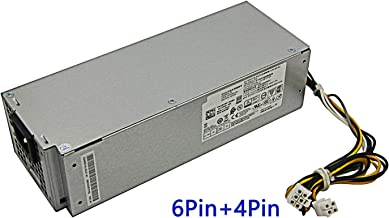 Asia New Power 240W Power Supply for Dell OptiPlex 3046 3050 5050 7050 Mini Tower H240ES-02 L240ES-00 J61WF DK87P F484X (6Pin + 4Pin Connector)