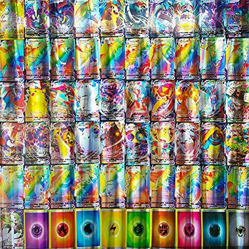 TAMO Karten Set für Pokemon, 60/100/200 Stück Kinder Cards Sammelkarten Set (60Tagteam GX)