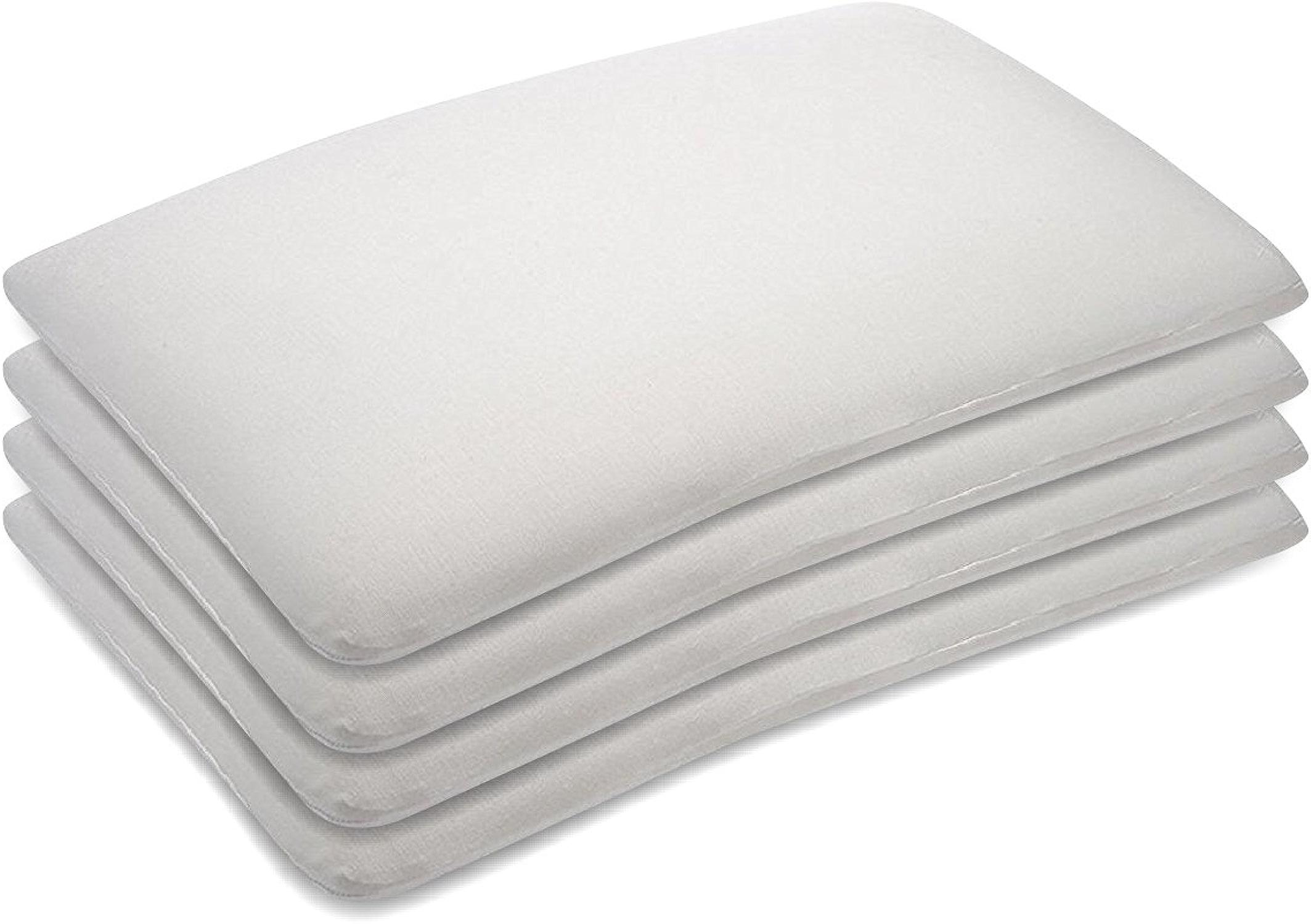 The blanc WilFaible Confortable Visco Mémoire Mousse Lit Oreiller Lumière Poids Doux Coussin Pour En train de dormir 15  x 24  x 3  Blanc Paquet de 4 Des morceaux