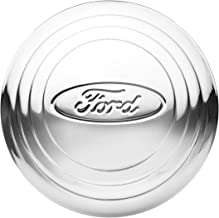 KNS Accessories KA8013 Center Cap (1932-1933 Stainless Steel Wire Wheel, Ford Script Oval Logo)