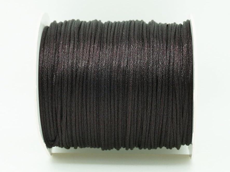 CHOCOLATE BROWN 1mm Bugtail Satin Cord Shamballa Macrame Beading Nylon Kumihimo String (210ft Spool)