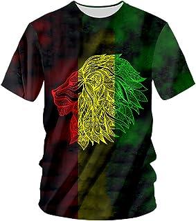 pinata Rasta Lion T Shirts for Men Women Creative Novelty 3D Printed Short Sleeve Tops Tees